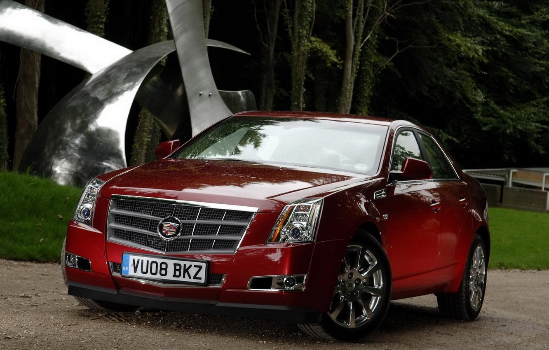 Photo wallpaper red, Cadillac, CTS-V