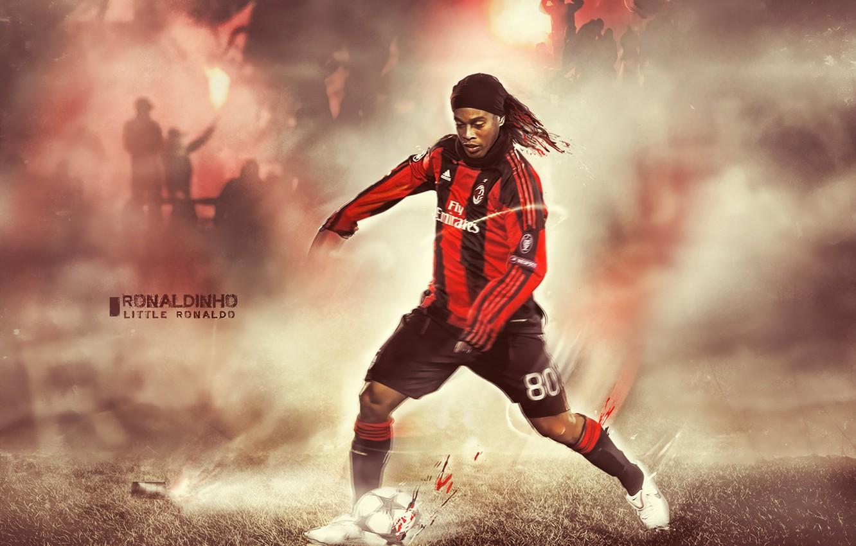 Photo wallpaper Milan, Ronaldinho, Brazilian