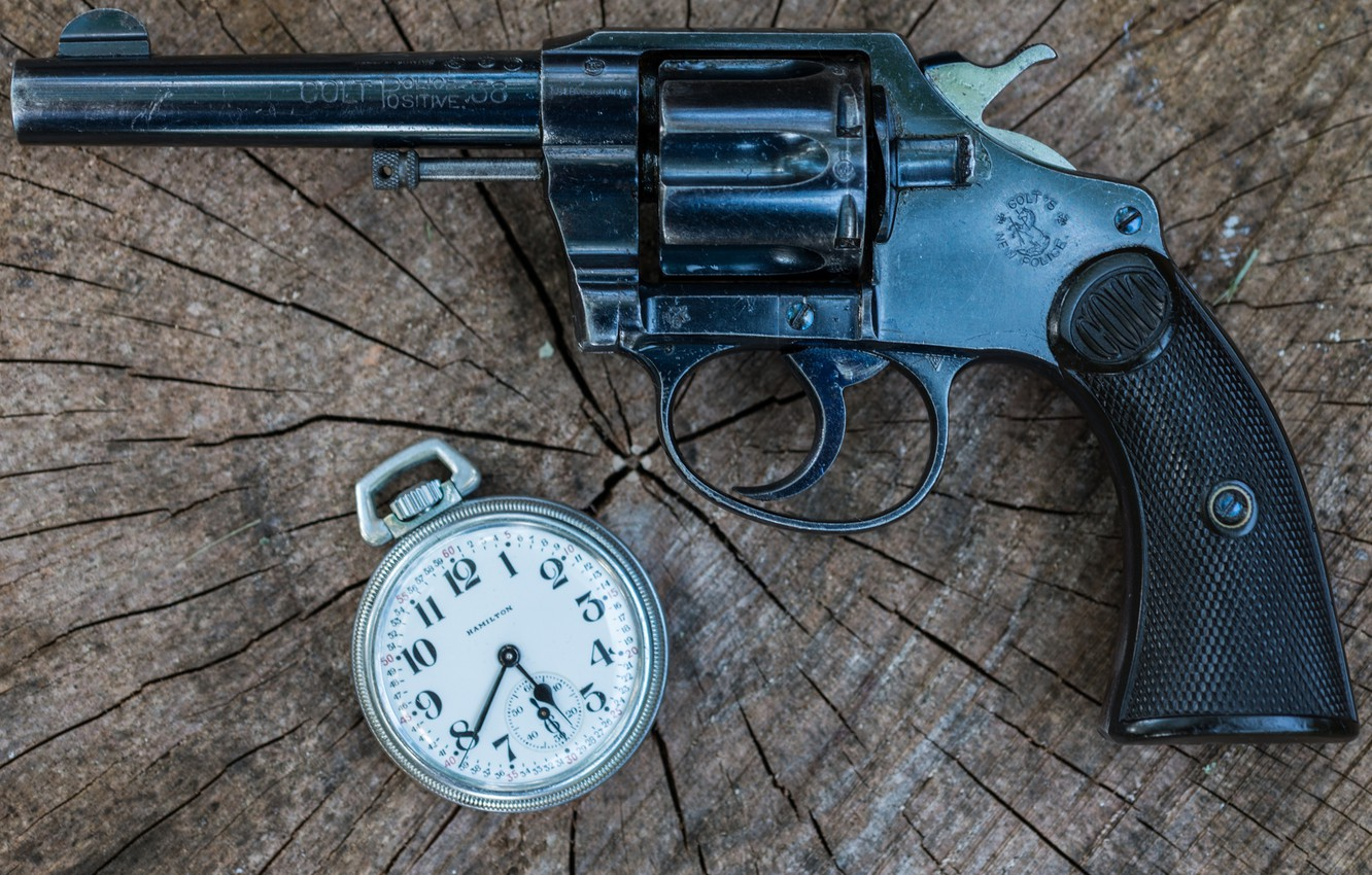 Photo wallpaper weapons, watch, revolver, Police, Colt, 1906