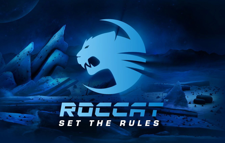Photo wallpaper logo, wallpaper, Roccat