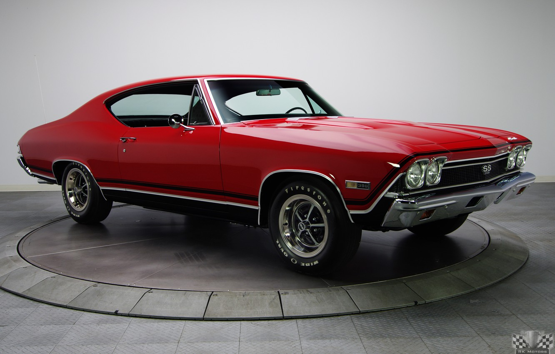 Photo wallpaper Chevrolet, Super Sport, 1968, Chevelle, Hardtop, Classic cars, Bolero Red, 396 V8