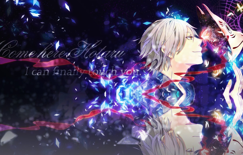 Photo wallpaper reflection, anime, art, guy, hotarubi no mori e