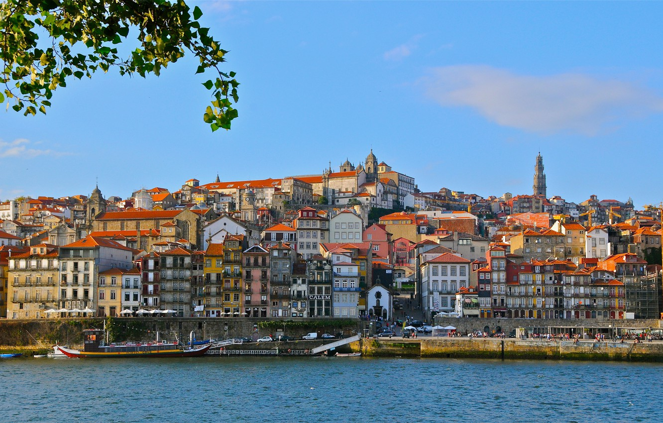 Photo wallpaper river, building, Portugal, promenade, Portugal, Vila Nova de Gaia, Porto, Port, Vila Nova de Gaia, …