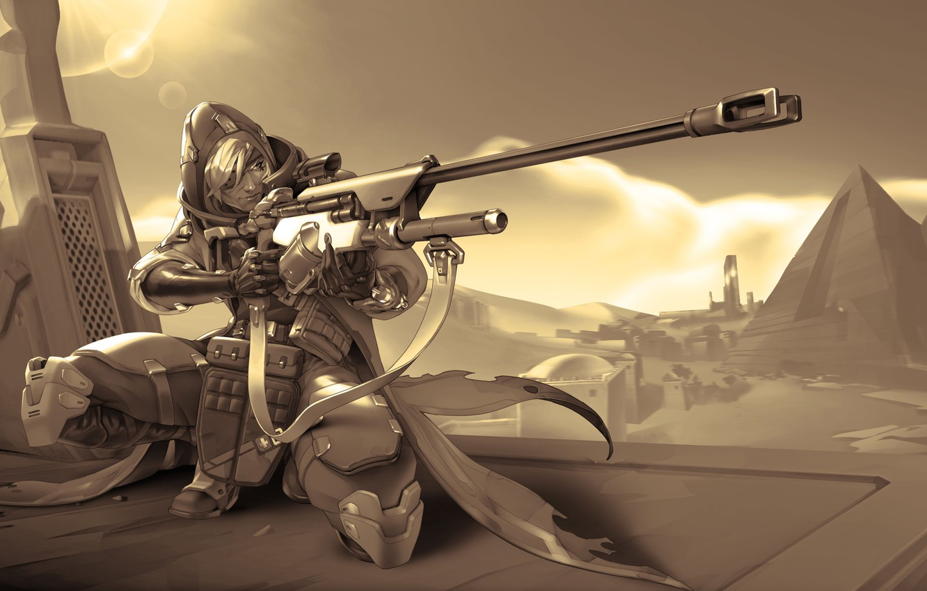 Wallpaper Weapons Pyramid Shooter Bounty Hunter Overwatch Ana Amari Images For Desktop Section Igry Download
