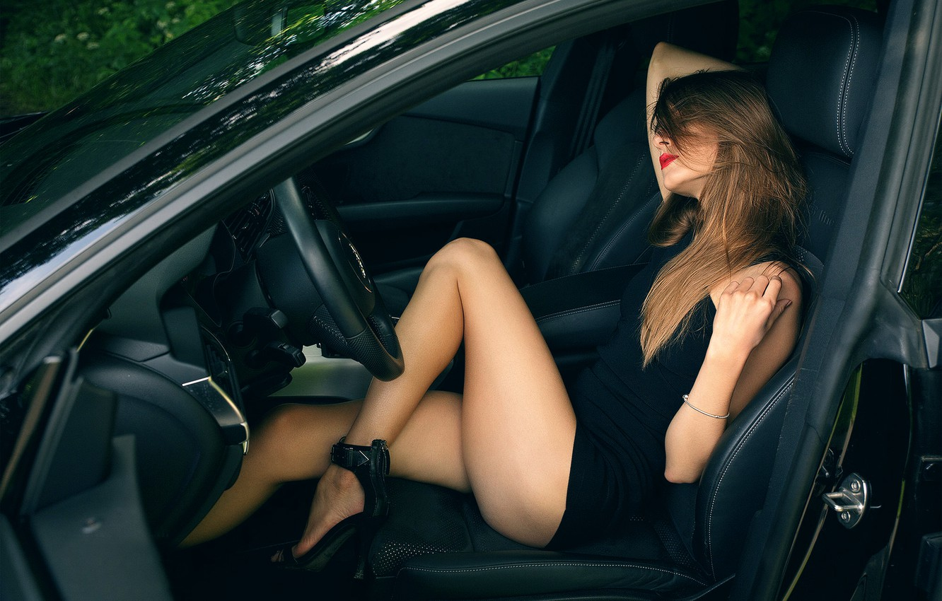 Photo wallpaper auto, girl, legs, Guenter Stoehr, Vita