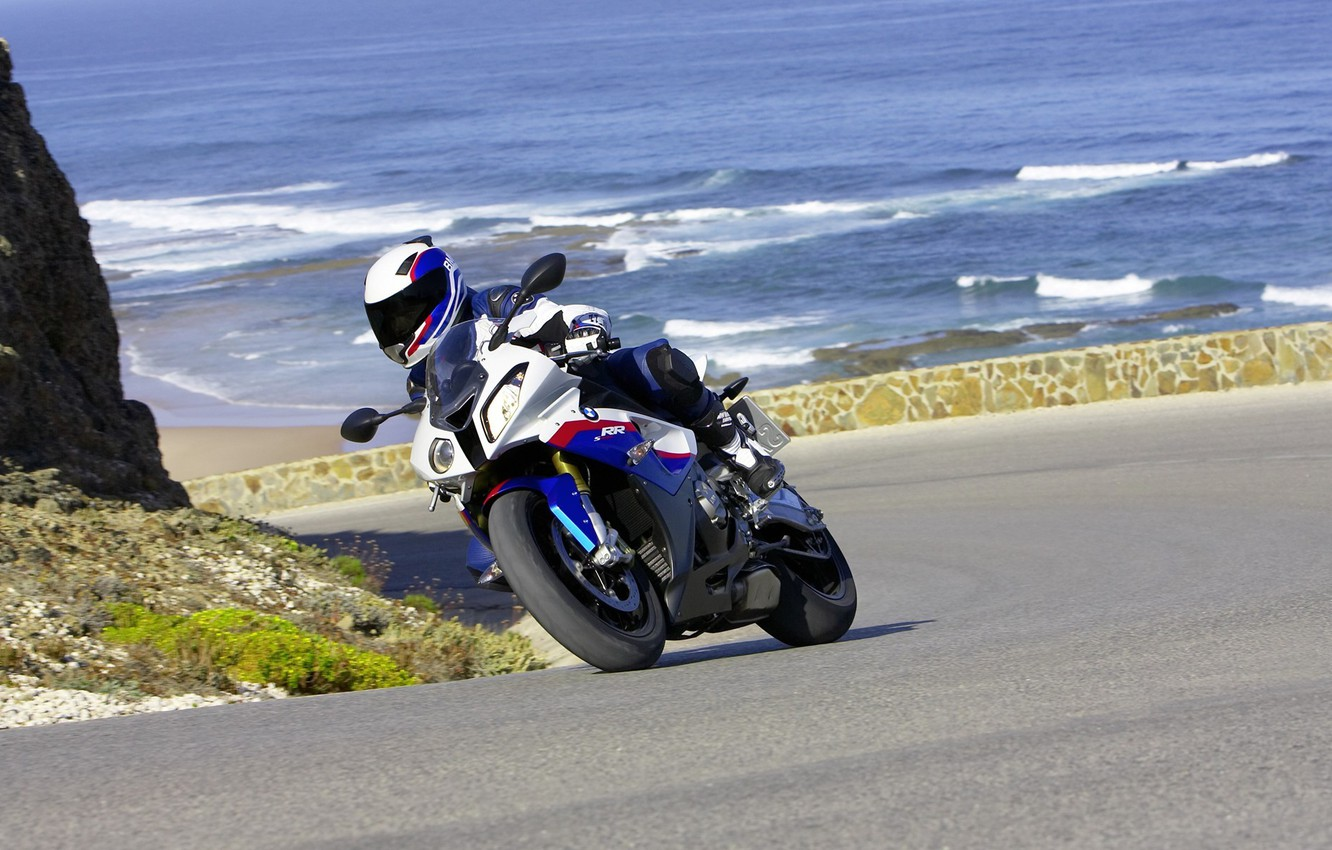 Photo wallpaper road, sea, summer, water, mountains, the ocean, rocks, motorcycles, sport, trip, stories, travel expenses