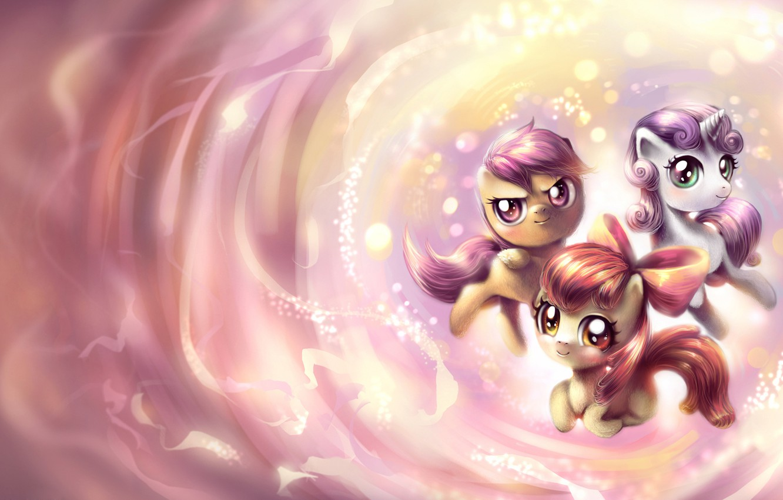 Photo wallpaper mood, cartoon, art, pony, My Little Pony, for children, horses, children