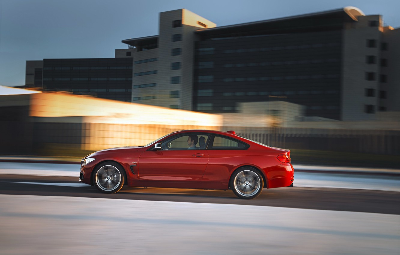 Photo wallpaper red, bmw, sport, line, coupe, 4series, 435i, f32
