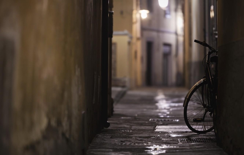 Photo wallpaper bike, the city, street