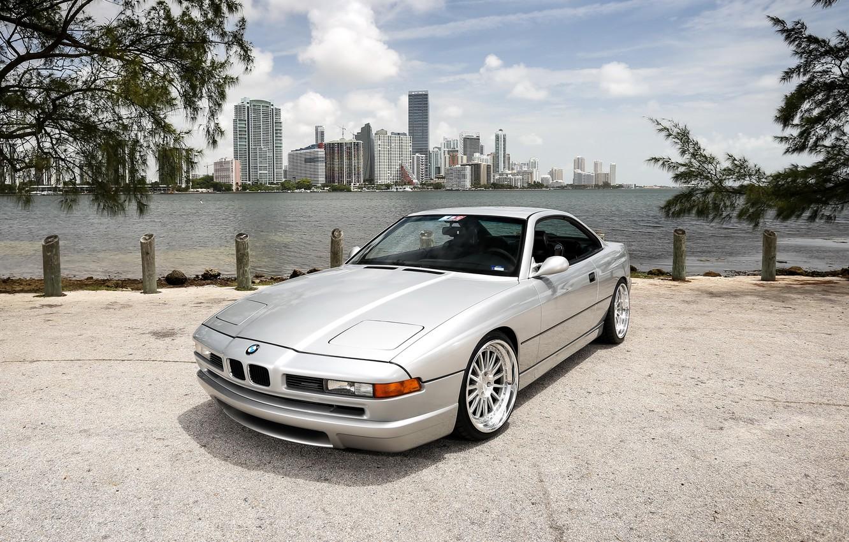 Photo wallpaper BMW, wheels, chrome, 850i