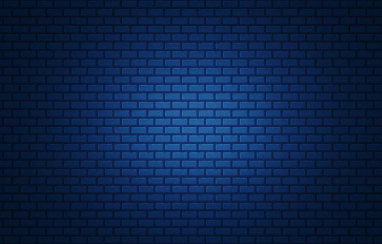Photo wallpaper blue, simple, brick, gradient, texture