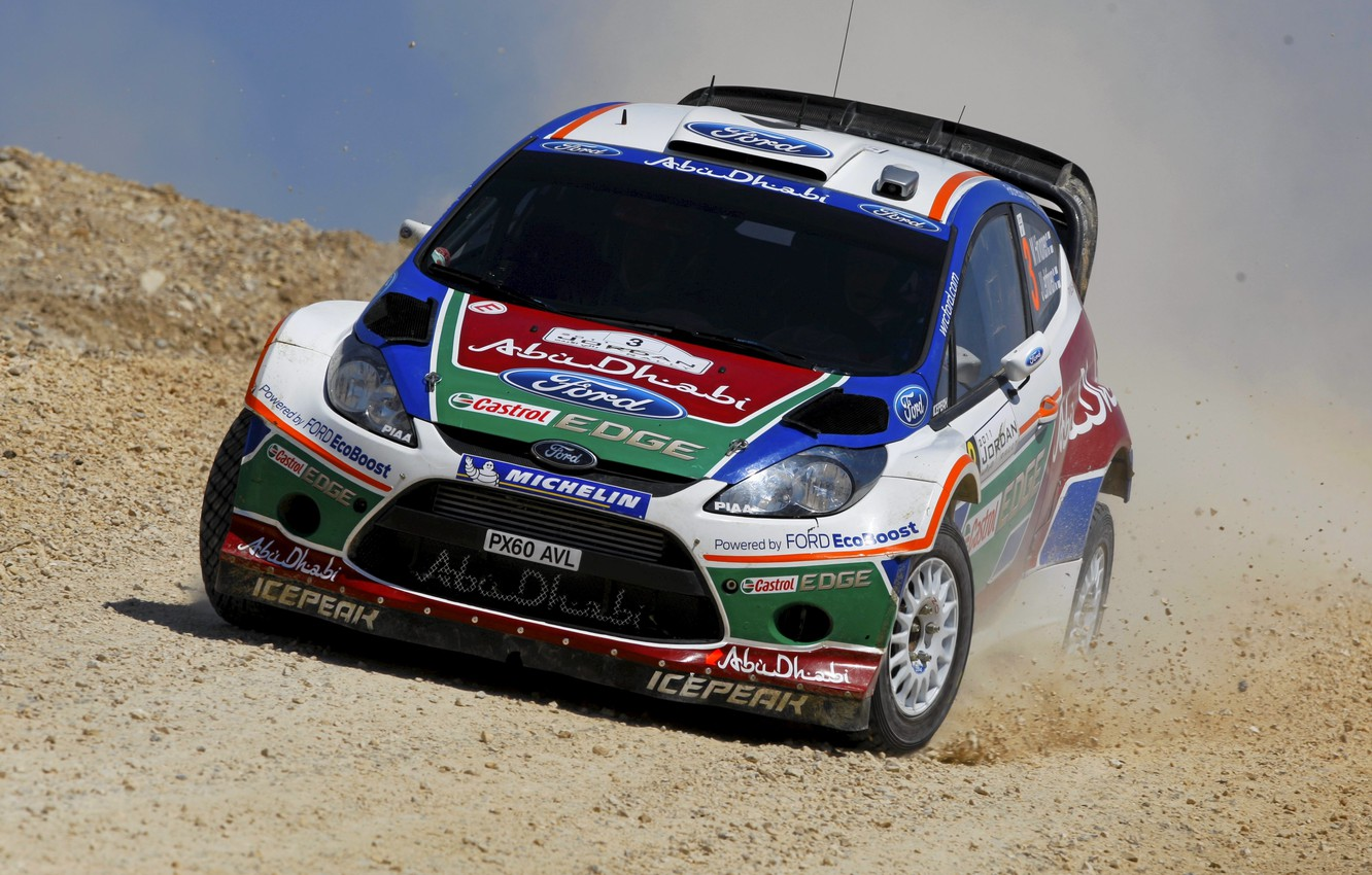 Photo wallpaper Ford, Auto, Ford, The hood, Lights, WRC, Rally, Rally, Fiesta, Fiesta, The front, M. Hirvonen, …