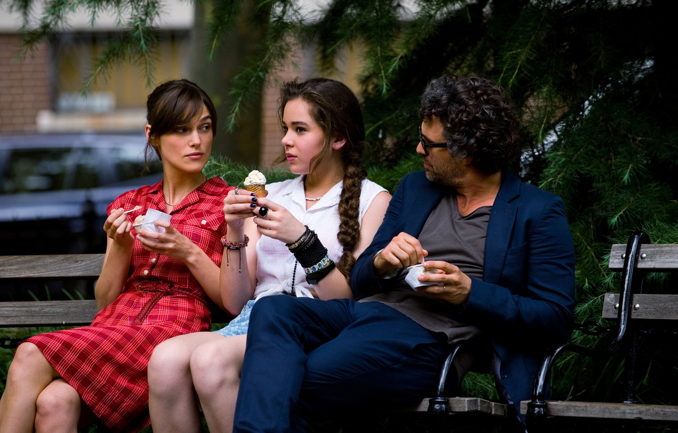 Photo wallpaper Keira Knightley, Mark Ruffalo, Hailee Steinfeld, For once in your life, Begin Again