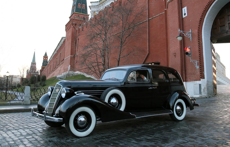 Photo wallpaper background, The Kremlin, the front, 101, 1936, ZiS, ZiS