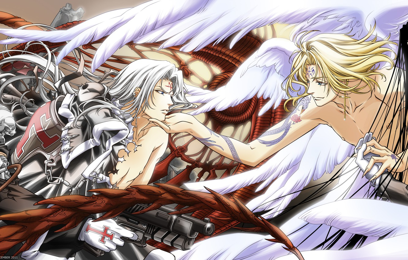 Photo wallpaper weapons, anime, art, guy, trinity blood, Trinity Blood