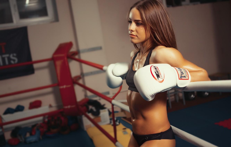 Photo wallpaper girl, sport, Boxing