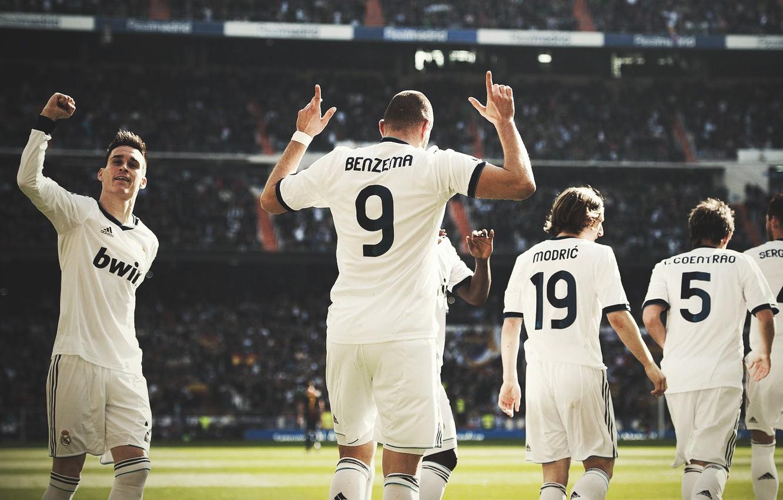 Photo wallpaper football, real madrid, football, sergio ramos, soccer, karim benzema, modric