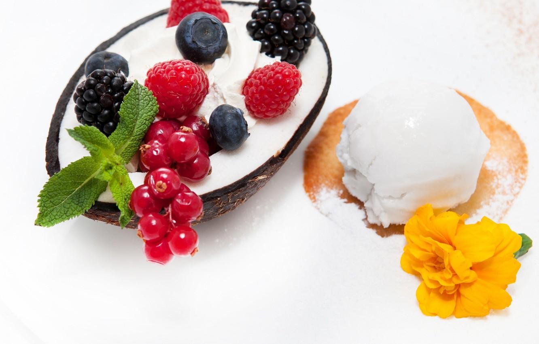 Wallpaper Ice Cream Ejevika Kokosoviy Dessert Sweet