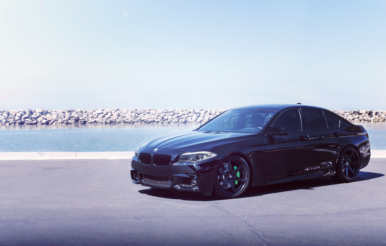 Photo wallpaper BMW, Black, Tuning, F10, 550, Concept One