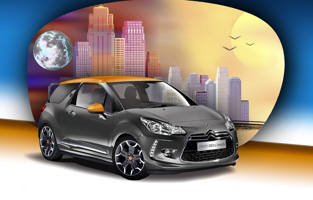 Photo wallpaper background, Citroen, Citroen, DS 3