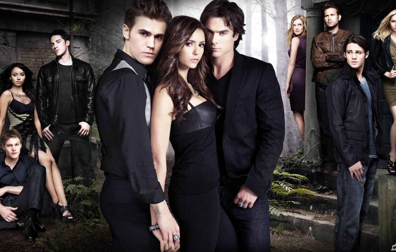 Photo wallpaper the vampire diaries, Season 2, all the characters
