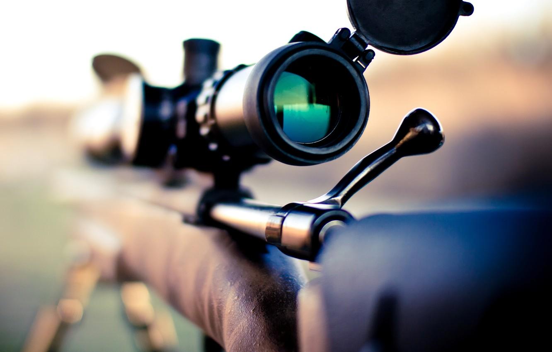Photo wallpaper Rifle, Macro, Remington 700