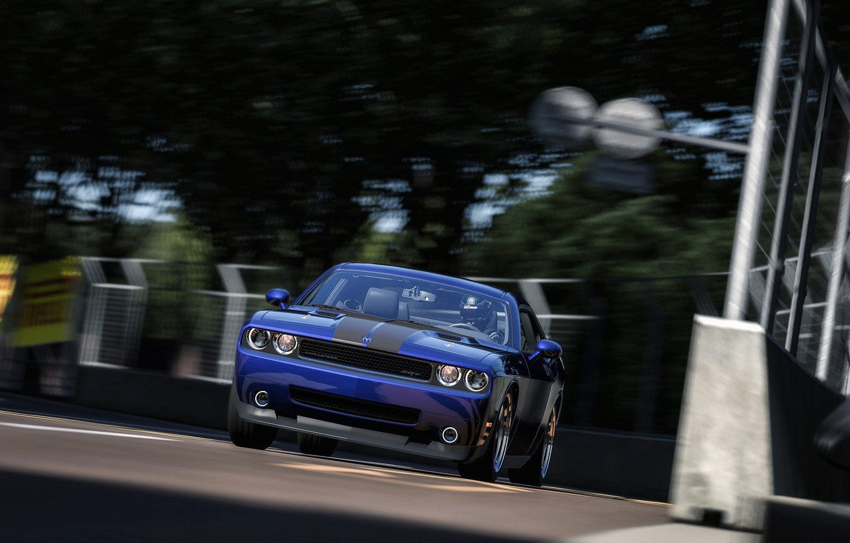 Photo wallpaper auto, race, speed, dodge challenger
