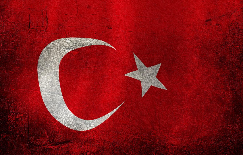 Photo wallpaper red, flag, Turkey
