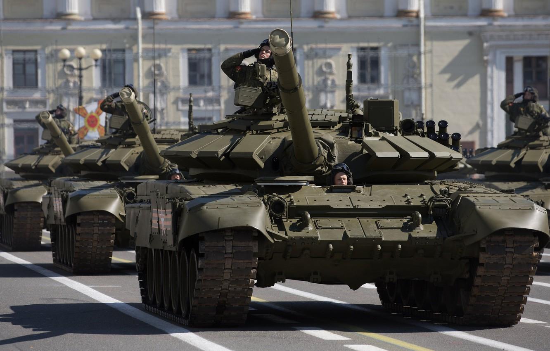Photo wallpaper tank, combat, armor, T-72