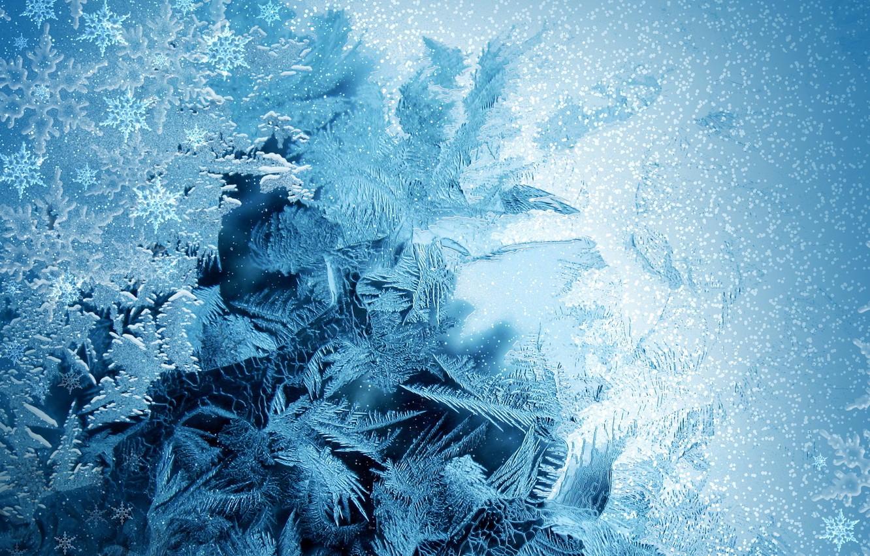 Photo wallpaper winter, new year, snowflake, 2012