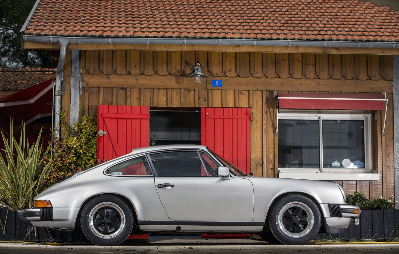 Photo wallpaper 911, Porsche, Retro, Car, Coupe, Carrera, 3.0, Side, Silver, 1976-77
