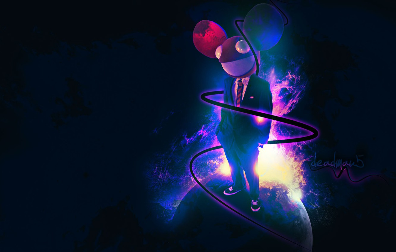 Photo wallpaper Music, Music, Deadmau5, Dead Mouse, Joel Thomas Zimmerman