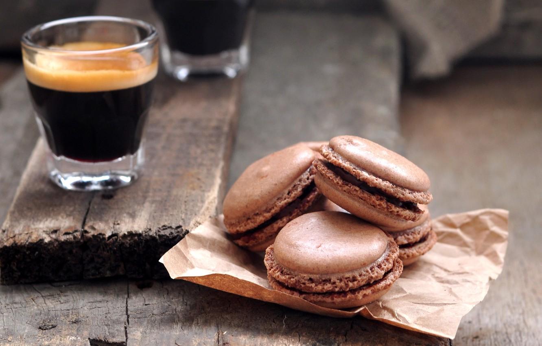 Photo wallpaper coffee, cookies, sweets, cake, brown, dessert, sweet, macaron, macaron