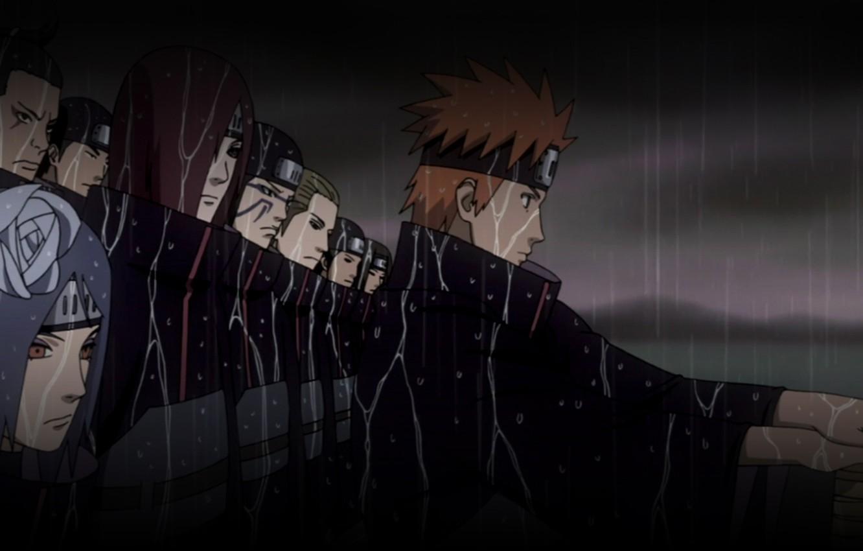 Wallpaper Night Naruto The Shower Squad Ninja Akatsuki Yahiko