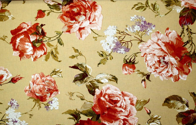 Photo wallpaper leaves, flowers, design, pattern, roses, texture, stem, Bud, petal, fabric, lilac, peonies, textiles, twigs