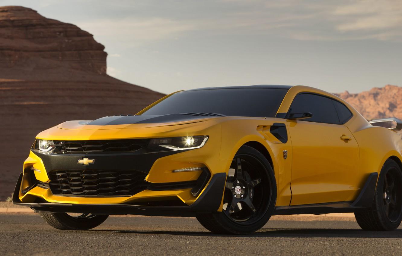 Photo wallpaper Transformers, Chevrolet Camaro, Bumblebee, Transformers 5: The Last Knight, Custom Chevrolet Camaro