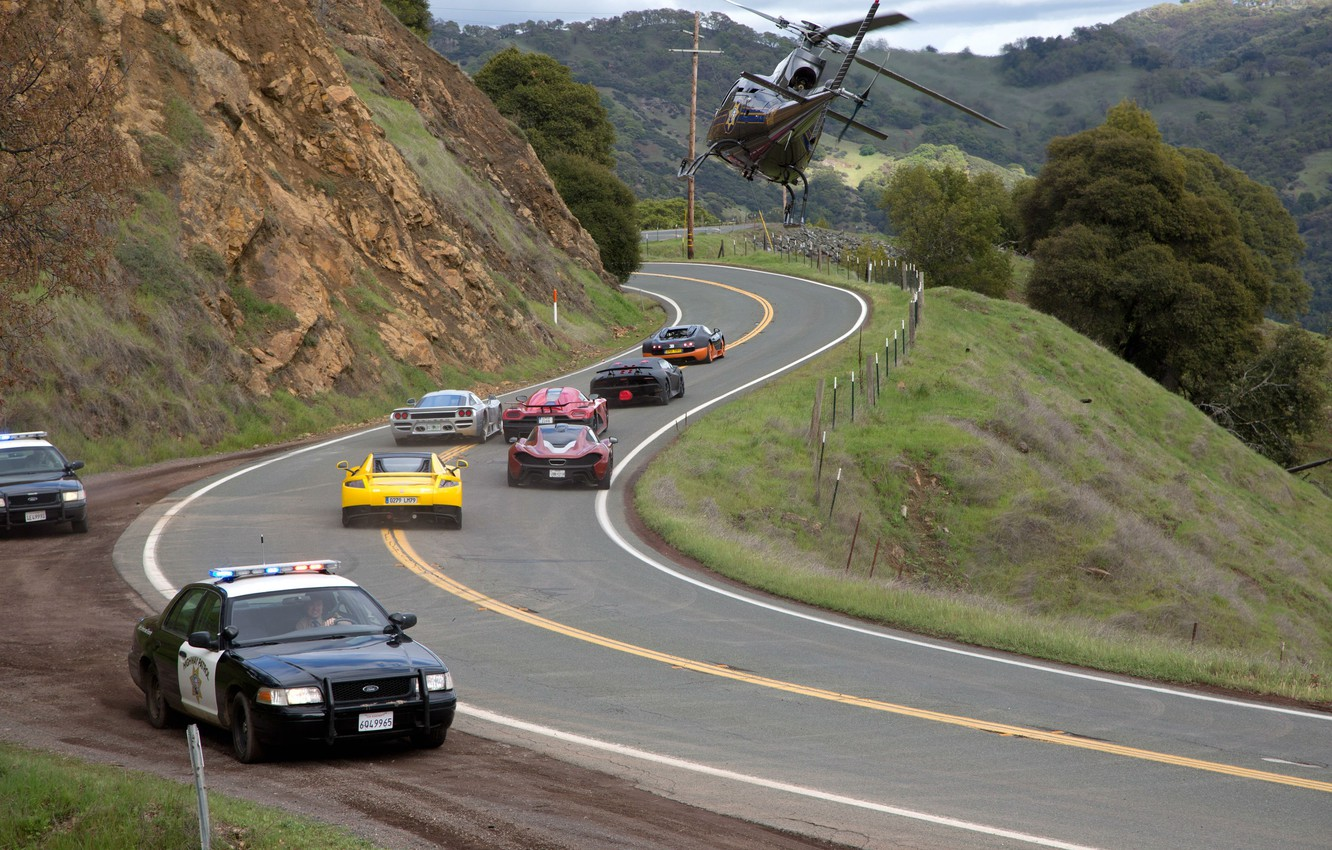 Wallpaper Police Chase Bugatti Veyron The Film Need For Speed