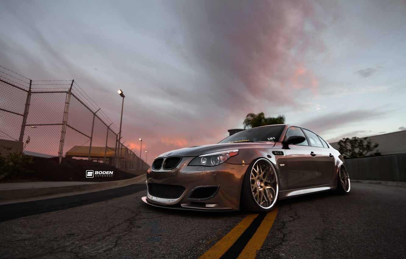 Photo wallpaper bmw, wheels, tuning, germany, low, e60, stance