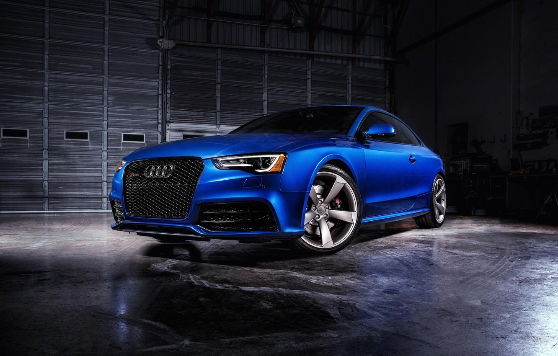 Photo wallpaper Audi, Audi, blue, Coupe, RS 5