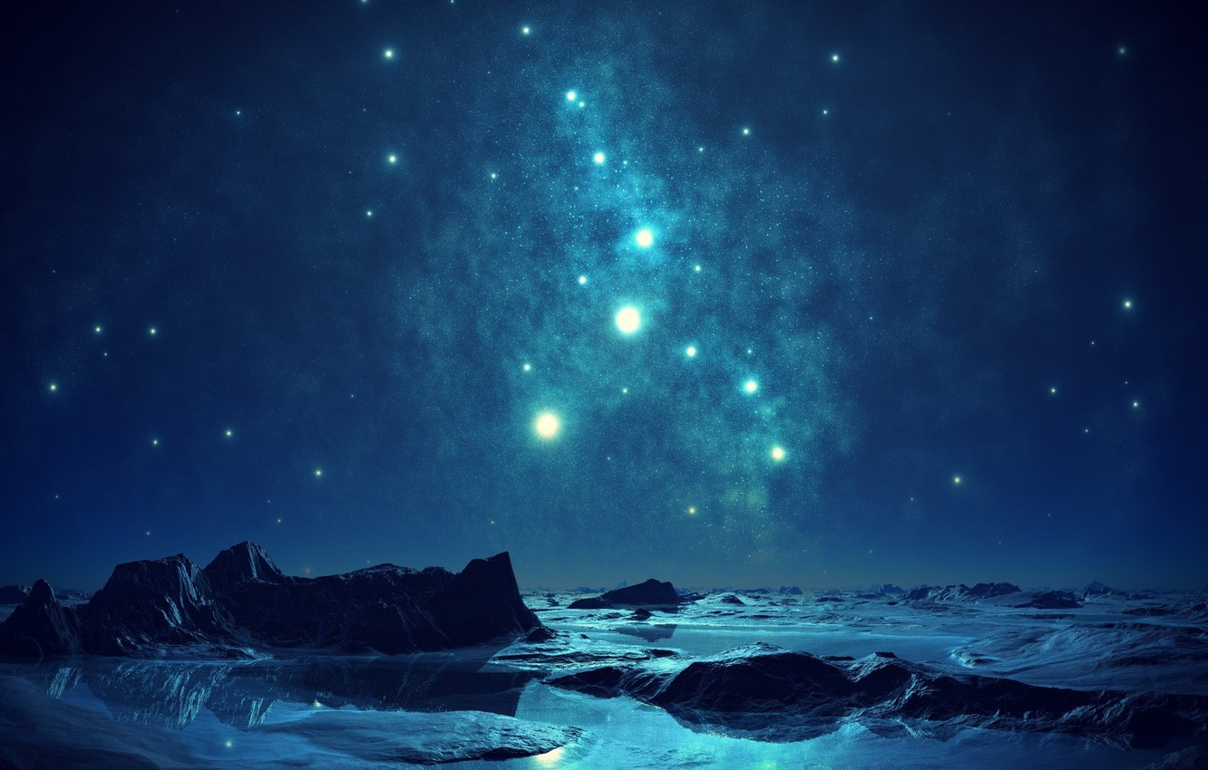 Photo wallpaper the sky, night, blue, the evening, sky, blue, night, evening, romantic, romantic