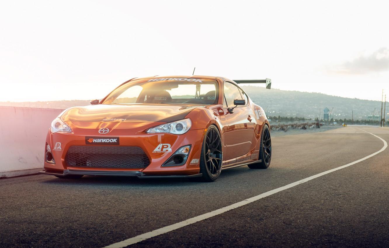 Photo wallpaper orange, tuning, Toyota, tuning, front, orange, Scion, Scion, fr-s, FR-s