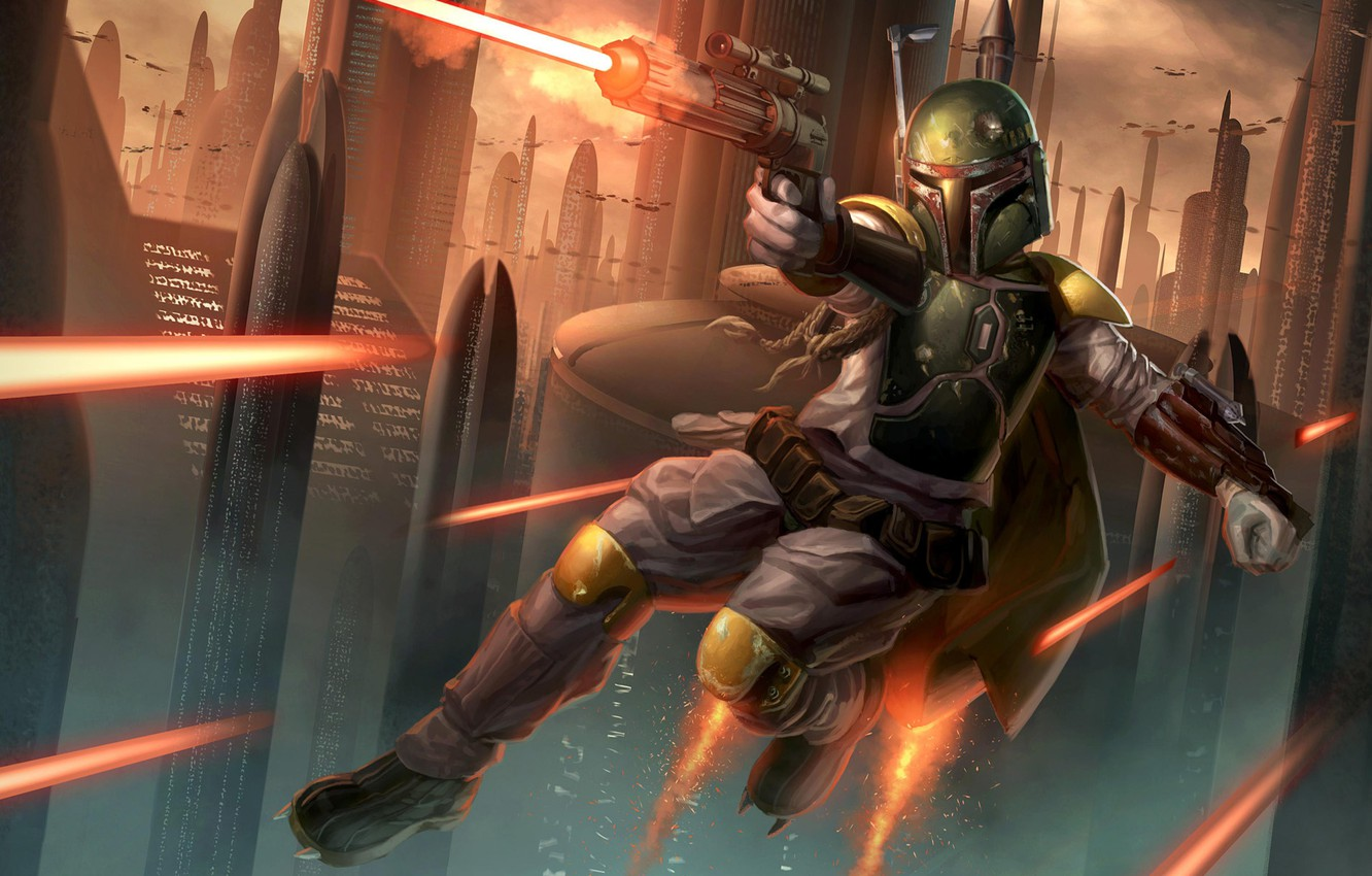 Wallpaper Star Wars Boba Fett Boba Fett Bounty Hunter The