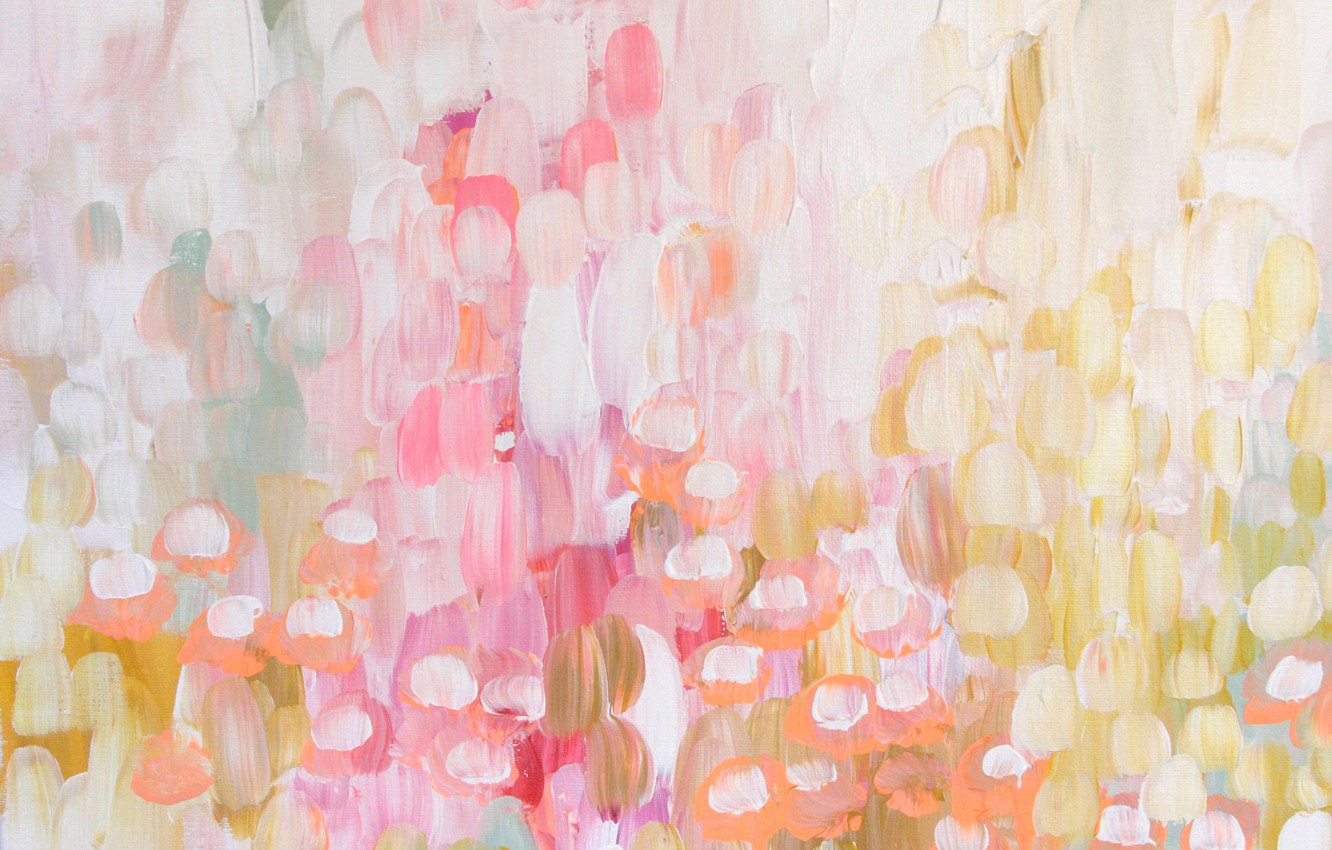 Photo wallpaper flowers, abstraction, paint, texture, spring, smear