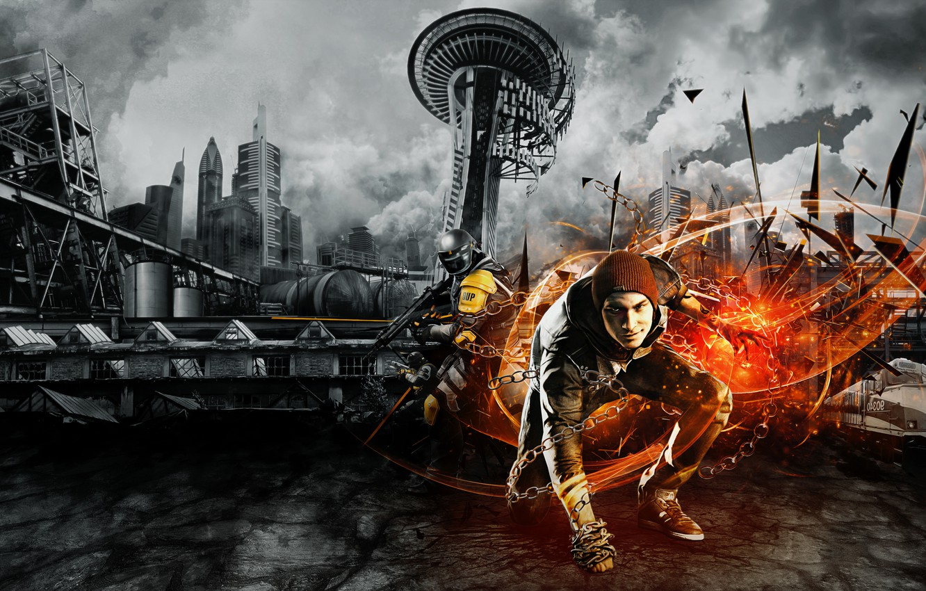 Wallpaper Background Sucker Punch Video Game Infamous Second