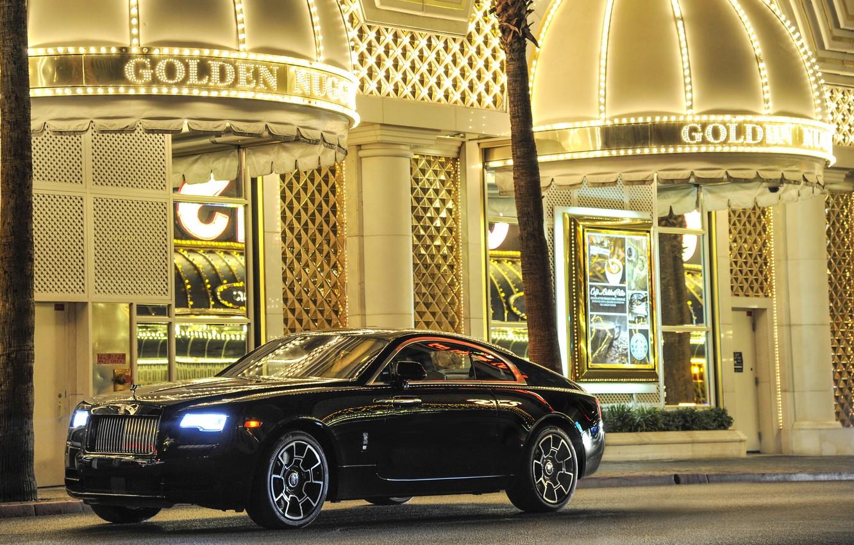 Photo wallpaper car, auto, Rolls-Royce, wallpapers, nice, rolls-Royce, Wraith, luxury, Black Badge