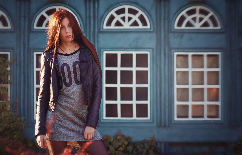Photo wallpaper Girl, Light, Art, Model, Street, Beauty, Photo, View, Hair, Outdoor
