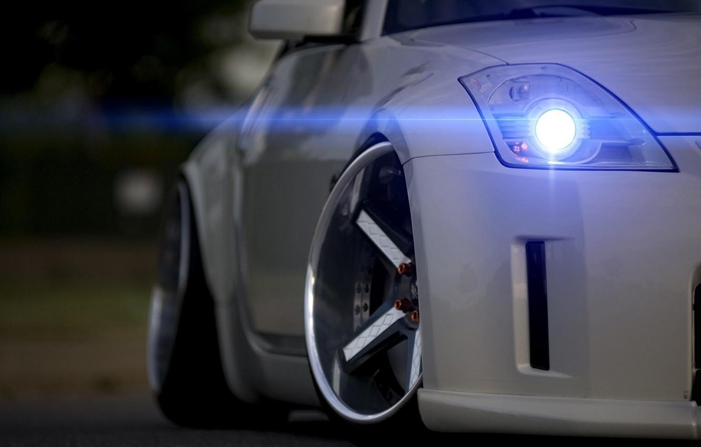 Photo wallpaper white, Nissan, drives