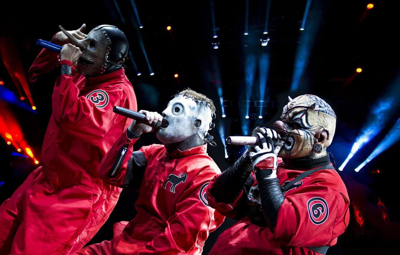 Photo wallpaper Slipknot, Corey Taylor, Chris Fehn, Shawn Crahan