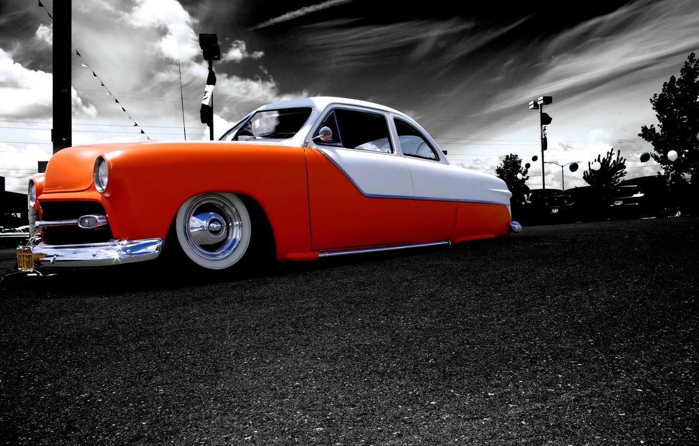 Photo wallpaper white, orange, old