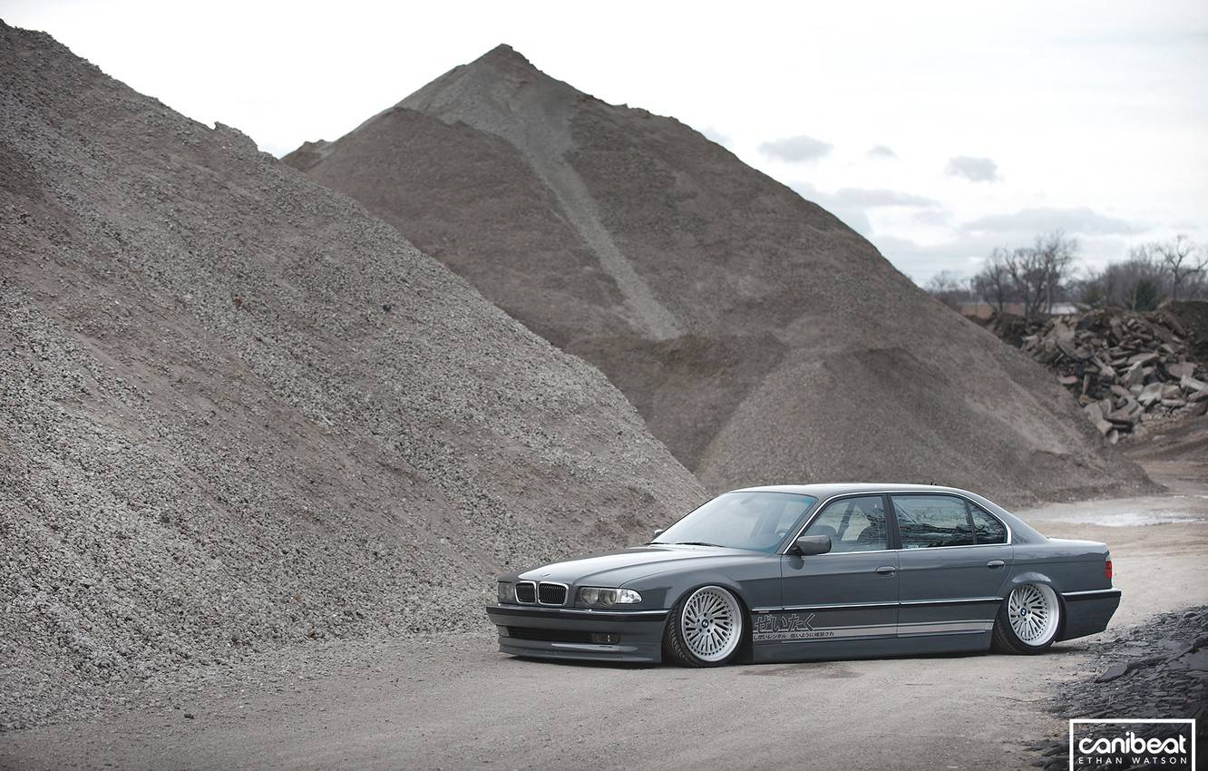 Photo wallpaper BMW, tuning, Stance, canibeat, E38, 740il